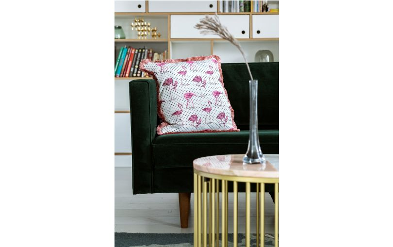 Poduszka premium flamingi