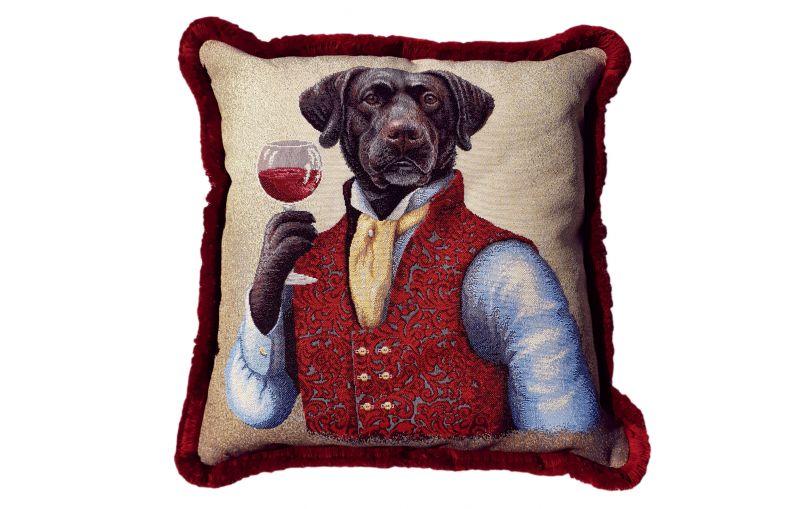 Żakardowa poduszka premium pies