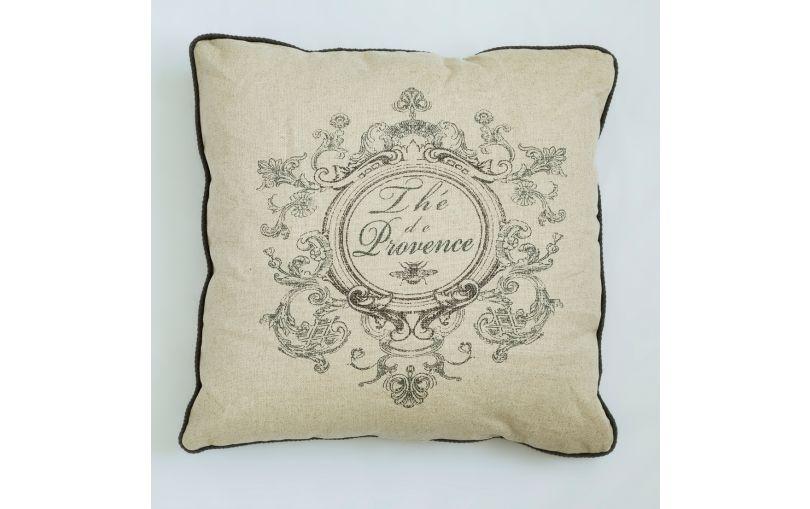 Poduszka premium The de Provence szara
