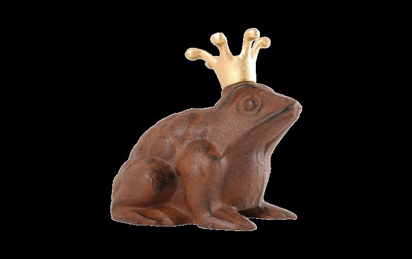 Żeliwna żaba do ogrodu - dekoracja ogrodowa