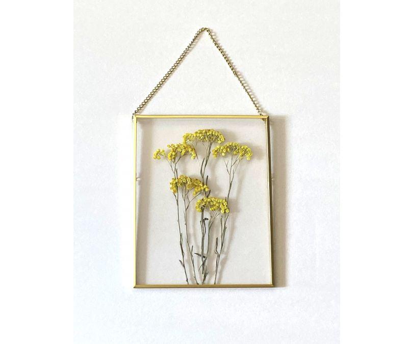 Dekoracja ścienna kwiat w metalowej ramce