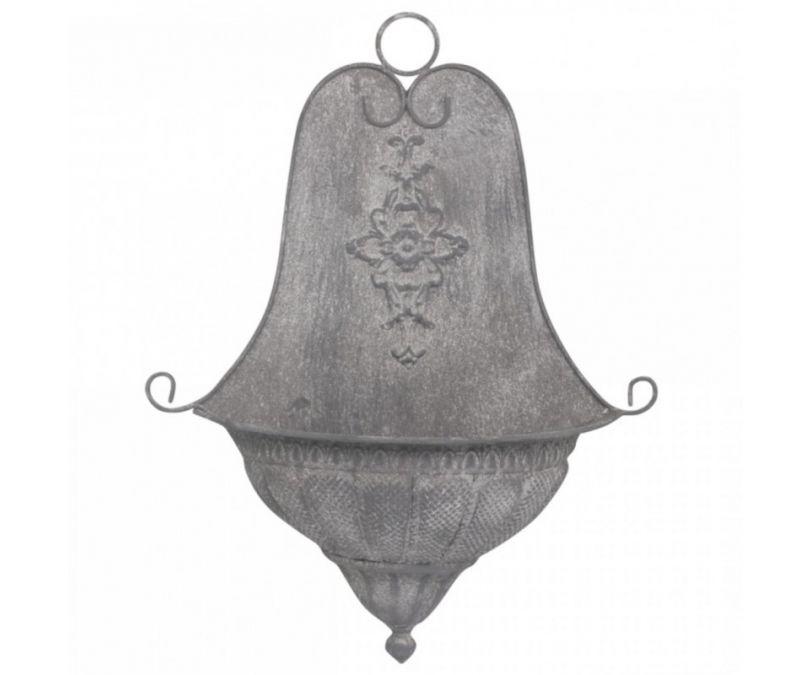 Dekoracja Ścienna metalowa szara styl romatyczny