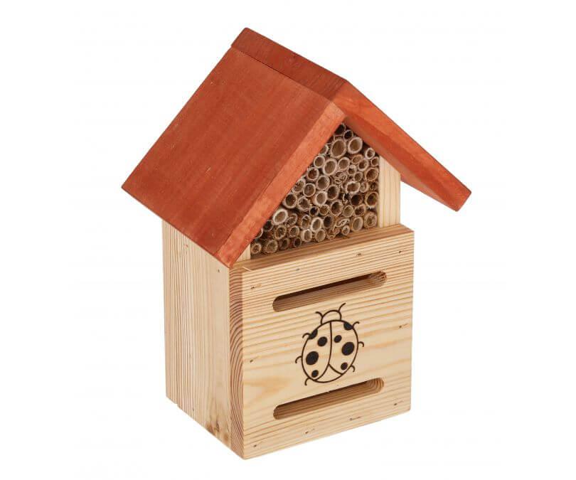 Domek dla owadów pożytecznych biedronka 2w1